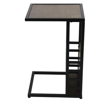 Decor Therapy Walnut Composite End Table in Brown | FR8853