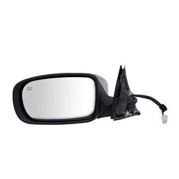 60608C - Fit System Driver Side Mirror for 11-18 Chrysler 300 Sedan, code GU4, textured black w/ chrome cover, w/ memory, foldaway, Heated Power