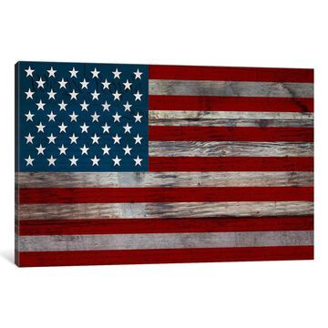iCanvas US Constitution - American Flag, Wood Boards by iCanvas Canvas Print
