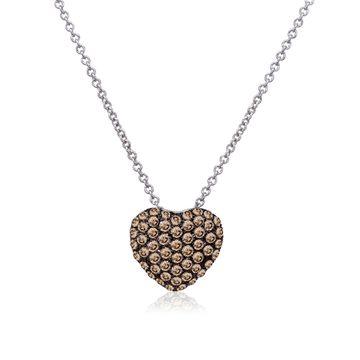 Le Vian Chocolatier Diamond & 14K White Gold Pendant Necklace