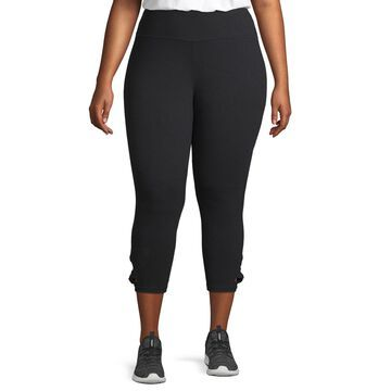 Xersion High Waisted Side Knot Capri-Plus
