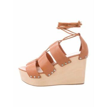 Leather Gladiator Sandals Brown