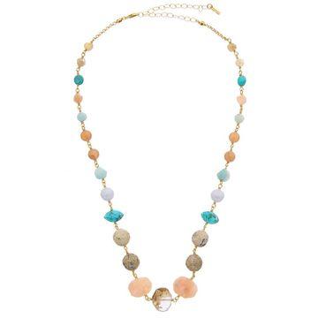 Chan Luu 18K Over Silver Gemstone Necklace