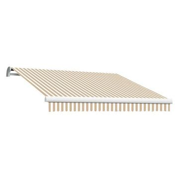 18' Maui-Lx Manual Retractable Awning, Linen/White