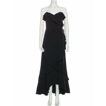 Strapless Long Dress w/ Tags Black