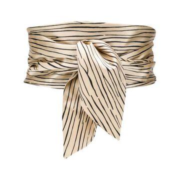 BALENCIAGA silk striped wide belt