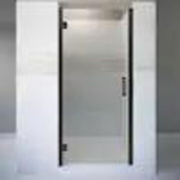 Basco Coppia 32.5625-in to 33.5625-in W Frameless Hinged Oil Rubbed Bronze Shower Door
