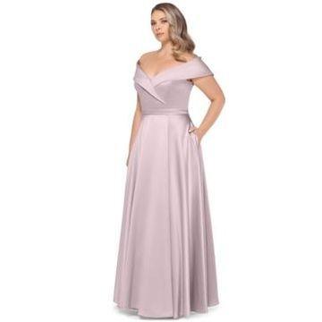 Xscape Plus Size Off-The-Shoulder Gown