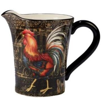 Certified International Gilded Rooster Pitcher