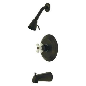 Kingston Brass Pressure Balanced Tub & Shower Faucet, Oil Rubbed Bronz