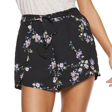 Juniors' Candie's Belted Petal Shorts