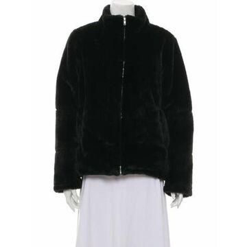 Faux Faux Fur Jacket Black