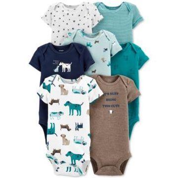 Carter's Baby Boys 7-Pack Short-Sleeve Bodysuits