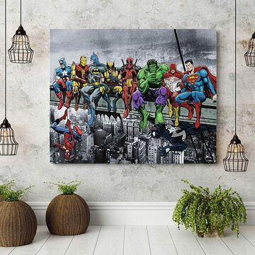 Super Hero Oil Painting Canvas Print Art Mural Poster Living Room Home Decor US