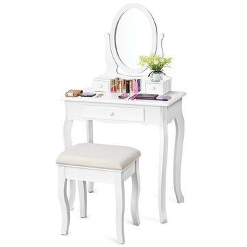 Goplus 15.8-in White Makeup Vanity | HB84003