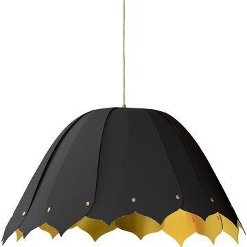 Dainolite Noa Black Modern/Contemporary Bowl Medium (10-22-in) Pendant Light | NOA151-M-698