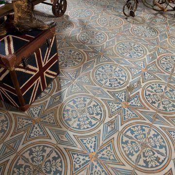 SomerTile 17.63x17.63-inch Royals Flatlands Ceramic Floor and Wall Tile (5 tiles/11.02 sqft.)