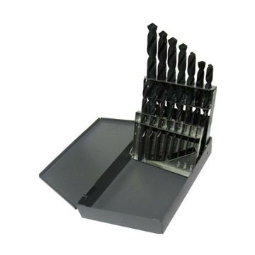 Drill America 15 Piece High Speed Steel Screw Machine (Stub) Drill Bit Set (1...