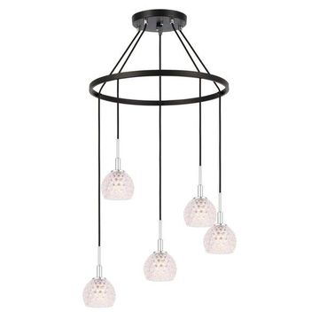 Woodbridge Lighting Elise Chandelier, Clear Crystal Ball