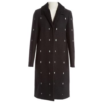 Marco De Vincenzo Grey Wool Coats