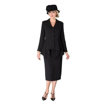 Giovanna Signature 2-piece Uneven Jacket Sweep Skirt Suit