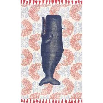 nuLOOM Handmade by Thomas Paul Cotton Printed Whale Area Rug (2' 8
