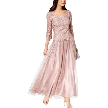 Alex Evenings Womens Formal Dress Embroidered 2PC - 10