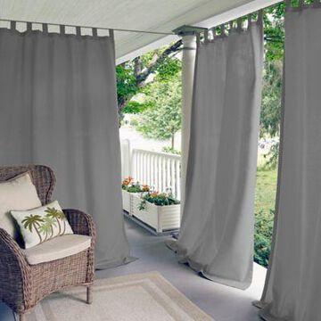 Elrene Home Fashions Matine 108-Inch Tab Top Window Curtain Panel in Grey