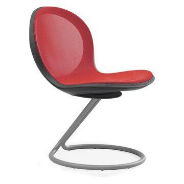 Ofm Net Series Circular Base Chair, Red