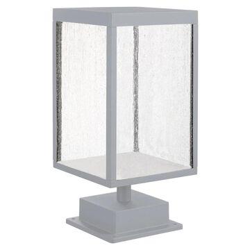 Access Lighting Reveal- Outdoor Rectangular LED Pier Mount- Satin Gray Finish- Seeded Glass | 20083LED-SG/SDG