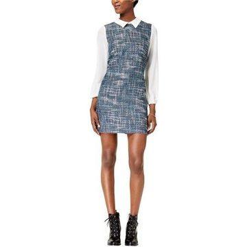 maison Jules Womens Layered Pencil Dress
