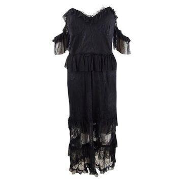 Bardot Women's Strapless Lace Dress (L, Black)