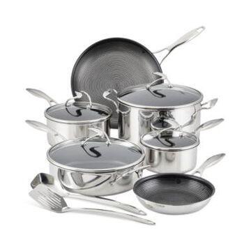 Circulon SteelShield C-Series Tri-Ply Clad Nonstick Cookware Plus Bonus Utensil Set, 12-Piece