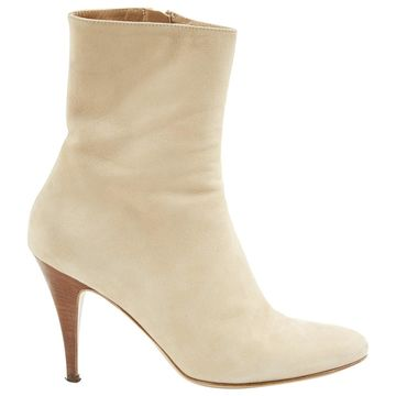 A.f.vandevorst Beige Suede Ankle boots