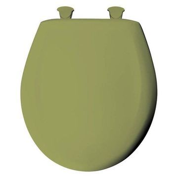 Bemis 200SLOWT 115 Plastic Round Slow-Close Toilet Seat, Avocado