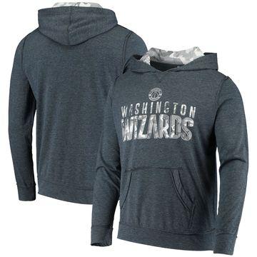 Men's Levelwear Heathered Navy Washington Wizards Frostbite Pullover Hoodie