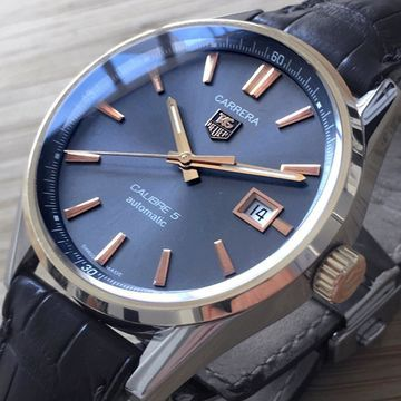 Tag Heuer Carrera Grey gold and steel Watches