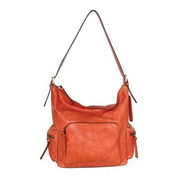 Nino Bossi Women's Willa Leather Shoulder Bag Orange - US Women's One Size (Size None)