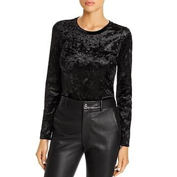 Enza Costa Crushed Velvet Bodysuit