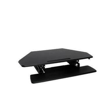 Corner Adjustable Desktop Black - OFM