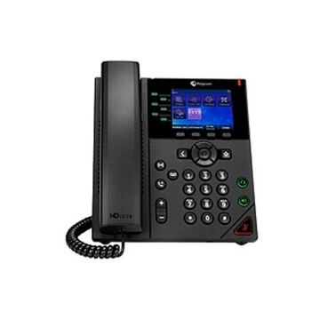 Poly 350 IP Phone - Corded - Corded - Wall Mountable, Desktop - TAA Compliant - 6 x Total Line - VoIP - Speakerphone - 2 x Network (RJ-45) - USB - PoE