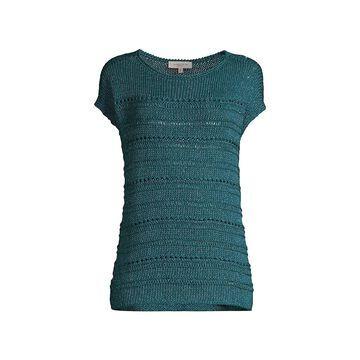 Lafayette 148 New York Bateau-Neck Open-Stitch Sweater