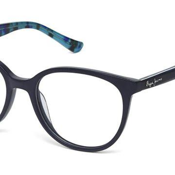 Pepe Jeans PJ3318 C4 Men's Glasses Blue Size 52 - Free Lenses - HSA/FSA Insurance - Blue Light Block Available