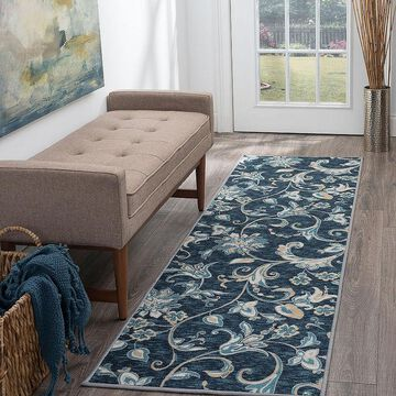 Tayse Tiera Transitional Floral Indoor Rectangular Accent Rug