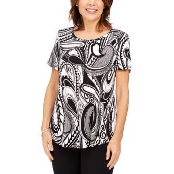 Jm Collection Paisley-Print Top, Created For Macy's