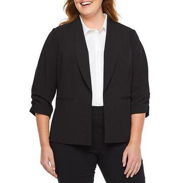 Worthington Cinch Sleeve Blazer-Plus