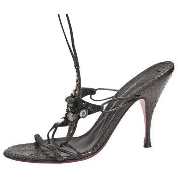 Emanuel Ungaro Black Leather Sandals