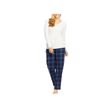 Gloria Vanderbilt Long Sleeve Womens 2-pc Pant Pajama Set