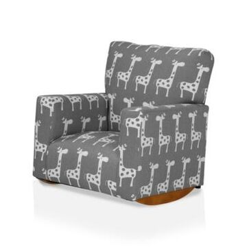 Furniture of America Stornoway Upholstered Kids Rocking Chair