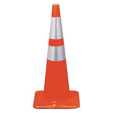 3M Reflective Safety Cone, 12 3/4 x 12 3/4 x 28, Orange